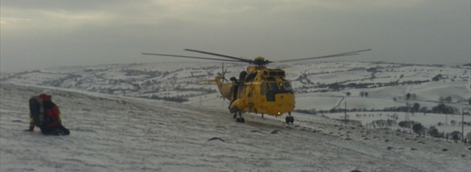 SAR helicopter from RAF Valley