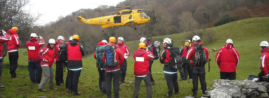 Training with SAR helicopter from RAF Valley
