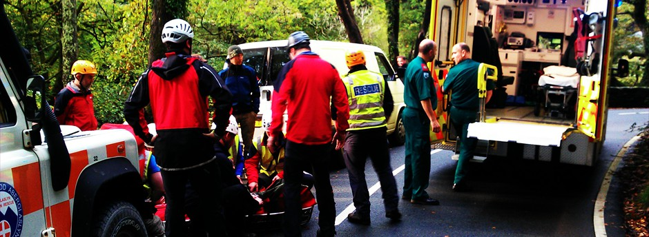 Road traffic accident - supporting the Ambulance & Fire services